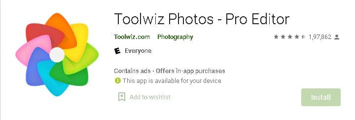 Toolwiz photo editnig