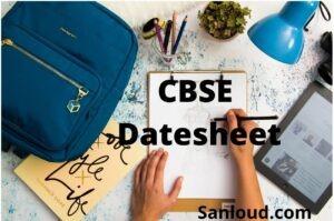 cbse datesheet 2021-2022