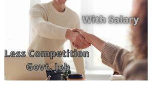 less competition govt job