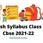 English Syllabus Class 12 Cbse 2021-22
